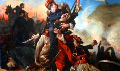 Death of a French officer at the Battle of Solferino