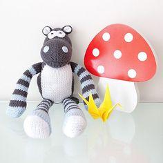 Hand Knitted 'Herbert Hippo'