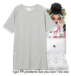 """I got 99 problems, but u won't be 1"" by ballislife ❤ liked on Polyvore featuring SEN, NIKE and Monki"