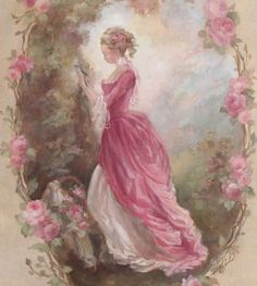 not shabby at all very elegant to me Debi Coules Shabby French Chic Art Floral Vintage, Art Vintage, Vintage Cards, Vintage Paper, Vintage Postcards, Vintage Prints, Shabby Vintage, Vintage Jewelry, Decoupage Vintage