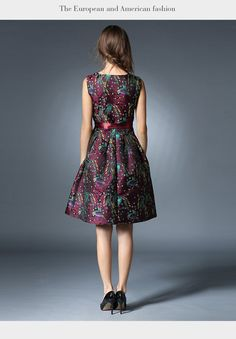 Bleted Red Floral Midi Dress
