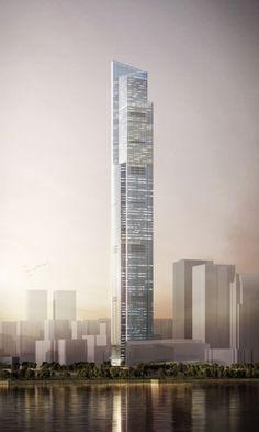 Futuristic Skyscraper, Future Architecture, CTF Guangzhou / KPF