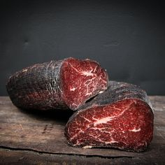 Made from Robbins Island Wagyu, dry cured in our signature blend of herbs and spices, then soaked in Pialligo Merlot for couple of days before it gets gently smoked and aged. Wagyu Beef, Smokehouse, The Cure, Recipes, Products, Recipies, Ripped Recipes, Cooking Recipes, Gadget