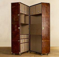 mayfair steamer secretary trunk/armoire. so amazing. furniture maker: Timothy Oulton of London