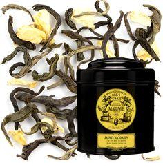 Jasmin Mandarin Green Tea by Mariage Frères (loose leaf) Chinese Greens, Types Of Tea, Tea Tins, Japanese Food, Tea Set, Jasmine, Stuffed Mushrooms, Cooking, Marriage