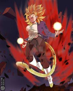 Wrathful Okara by on DeviantArt Female Goku, Female Dragon, Otaku Anime, Manga Anime, Anime Art, Hot Anime, Dragon Ball Z, Dragon Bowl, Character Art