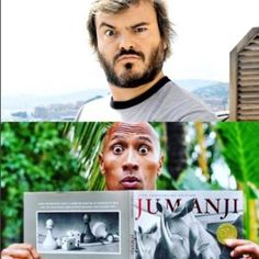 "The Rock confirma Jack Black no elenco da refilmagem de ""Jumanji"" #Ator, #Filme, #Instagram, #Livro, #Mundo, #Nova, #Novo, #QUem, #Remake, #Rock http://popzone.tv/2016/05/the-rock-confirma-jack-black-no-elenco-da-refilmagem-de-jumanji.html"