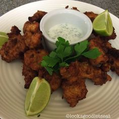 Tender chicken pakora lightly spiced and served with a refreshing mint raita.