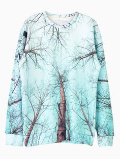 Withered Branches Print Sweater