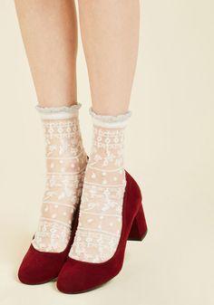Cheer for Sheer Socks, #ModCloth