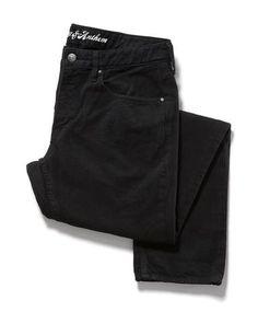 BRUNSWICK OVERDYE JEAN - SLIM - BLACK #MensJeans #MensWear