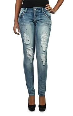 almost famous novelty rhinestone skinny jean  ($17.49)