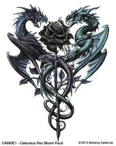 Dragon Tattoo is one of the most popular mystical tattoos. Like most other mytho. - Dragon Tattoo is one of the most popular mystical tattoos. Like most other mythological tattoos, dr - Caduceus Tattoo, Arrow Tattoo, Cover Tattoo, Body Art Tattoos, Dragon Tattoo Drawing, Dragons Tattoo, Finger Tattoo Designs, Dragon Tattoo Designs, Tatoo