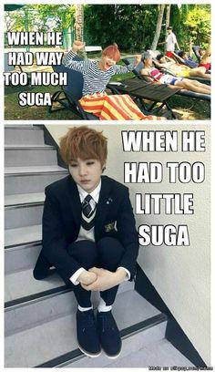 Two sides of suga | allkpop Meme Center