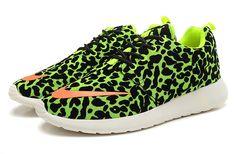 Nike Roshe Run FB Full Leopard Patterned Green