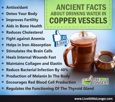 Believe it or not! You can reduce cholesterol by drinking water in #copper vessel. 13 best benefits of drinking water in copper vessel.