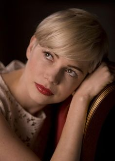 michelle williams - short crop with a fringe