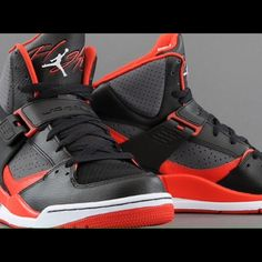 new style 3cda5 84f2f Jordan Flight 45 High Black   Gym Red   Dark Grey Only worn once! Black