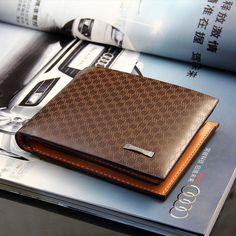 Men's Bifold Classic Brown Wallet