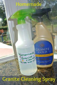 Homemade Granite Cleaning Spray - DIY #granite #homemade #cleaning