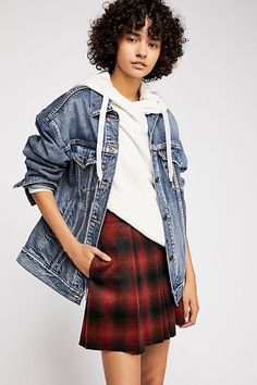 Sage Clothing offers trendy women's apparel with everything from casual dresses from MM Couture to fashionable jeans. We carry new ladies fashion clothing for current styles and trends. Red And Black Plaid, Black Denim, New Ladies Fashion, Womens Fashion, Plaid Mini Skirt, Mini Skirts, Boho Skirts, Fashion Looks, Fashion Outfits