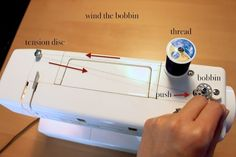 Sewing 101: Threading Your Sewing Machine from Simply Modern Mom (lots of other good sewing tips for beginners too)