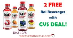WOOHOO! Two FREE Bai Beverages with a CVS deal (10/2-10/8)! Add to your shopping list now!  Click the link below to get all of the details ► http://www.thecouponingcouple.com/free-bai-beverages/ #Coupons #Couponing #CouponCommunity  Visit us at http://www.thecouponingcouple.com for more great posts!