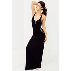 Staring At Stars Crochet Cutout Cover-Up Maxi Dress (50 CAD) via Polyvore featuring dresses, cutout dress, staring at stars dress, crochet maxi dress, cut out dress and staring at stars