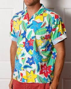 Super Rad Vintage Hawaiian Shirt  Bright by GreatWhiteVintage, $35.00