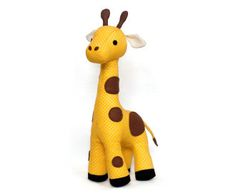Stuffed Giraffe sewing pattern | Sewing Pattern | YouCanMakeThis.com