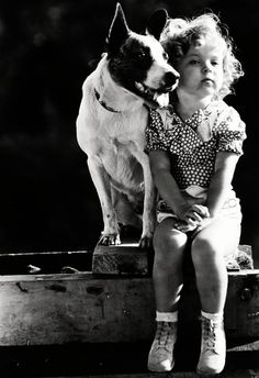 Shirley Temple with her dog Buster (1933). (LIFE) - photo via Campbells Loft fb page