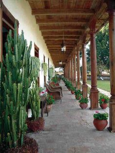 Chiapas, La Trinitaria, Parador-Museo Santa Maria, Corredor principal -