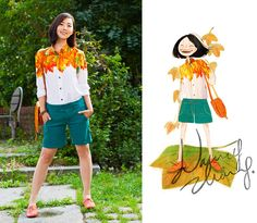 Memories upon a maple leaf. (by Nancy Zhang) http://lookbook.nu/look/3837953-Memories-upon-a-maple-leaf