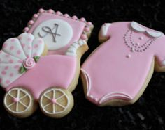 Baby Shower Cookies Baby Shower Favors by 4theloveofcookies