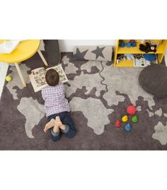 World Map Rug - perfect touch to a travel themed nursery or kids room!