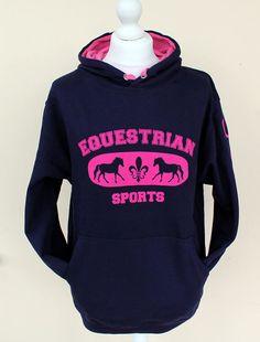 Horse Hoodie Equestrian Sports Horse Sweatshirt by HorseShirts