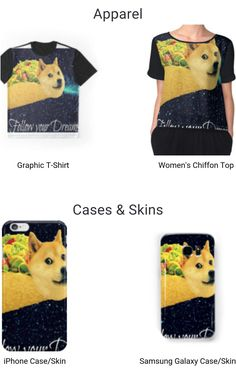 Edited image of Doge.  Many Doge Taco products for every occasion www.redbubble.com/people/lalahateslemons?ref=side-nav-account&asc=u
