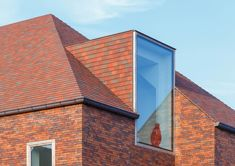 Example of contemporary dormer, new roof. Loft Dormer, Dormer Roof, Dormer Windows, House Extension Design, Roof Extension, Brick Architecture, Contemporary Architecture, Techo Mansarda, Ceramic Roof Tiles