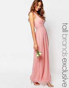 Image 1 ofTrue Decadence Tall Plunge Front Open Back Maxi Dress
