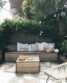 Small Outdoor Patios, Outdoor Sofa, Outdoor Spaces, Outdoor Gardens, Outdoor Living, Outdoor Furniture Sets, Outdoor Decor, Terrace Decor, Fresco