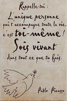 Best Ideas For Motivational Art Quotes Feelings Citation Picasso, Positive Vibes, Positive Quotes, Art Nouveau Poster, Honest Quotes, Canvas Art Quotes, French Quotes, Magic Words, Sweet Words