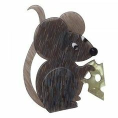 Erstwilder 'THE Manhattan Mouse' Grey Brooch Free Gift Discounts Apply | eBay