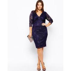 Lipstick Boutique Plus Lace Pencil Dress