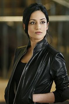 """Archie Panjabi's character on """"The Good Wife"""" has the best fitting, coolest leather jackets"""
