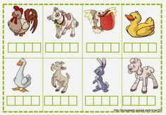 Joc de sil.labes Educació Infantil Brimar Spelling Games, Educational Games For Kids, Dual Language, Kindergarten Activities, Farm Animals, Back To School, Alphabet, Kids Rugs, Album