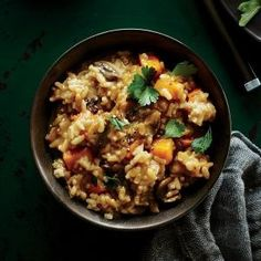 Instant Pot Mushroom and Roasted Butternut Squash Risotto