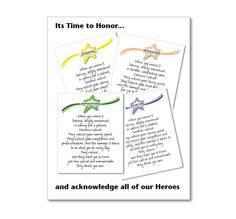 Honor Cards with Honored Words