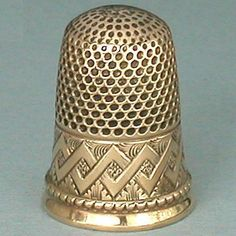 Antique Solid 14 Kt Gold Thimble * American * Circa 1880