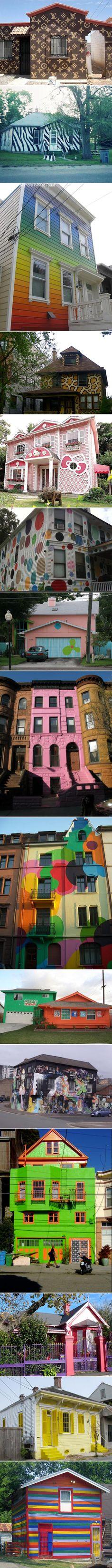 Crazy house paint jobs.