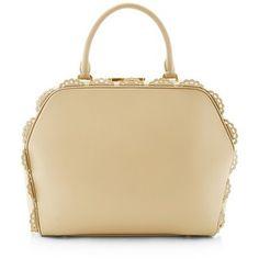 Simone Rocha Large Beige Scalloped Bag
